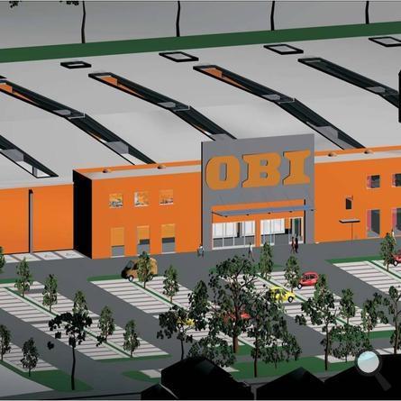 Kassel, Obi-Baumarkt - Visualisierung